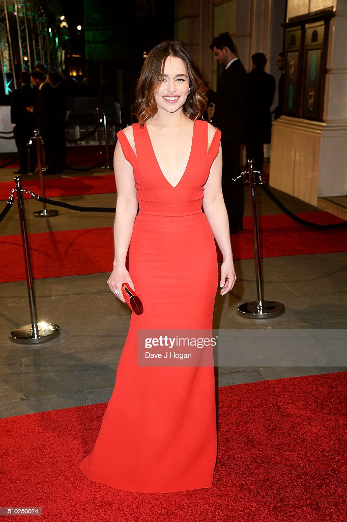Emilia Clarke attends the EE British Academy Film Awards at The Royal Opera House on February 14 2016 in London England