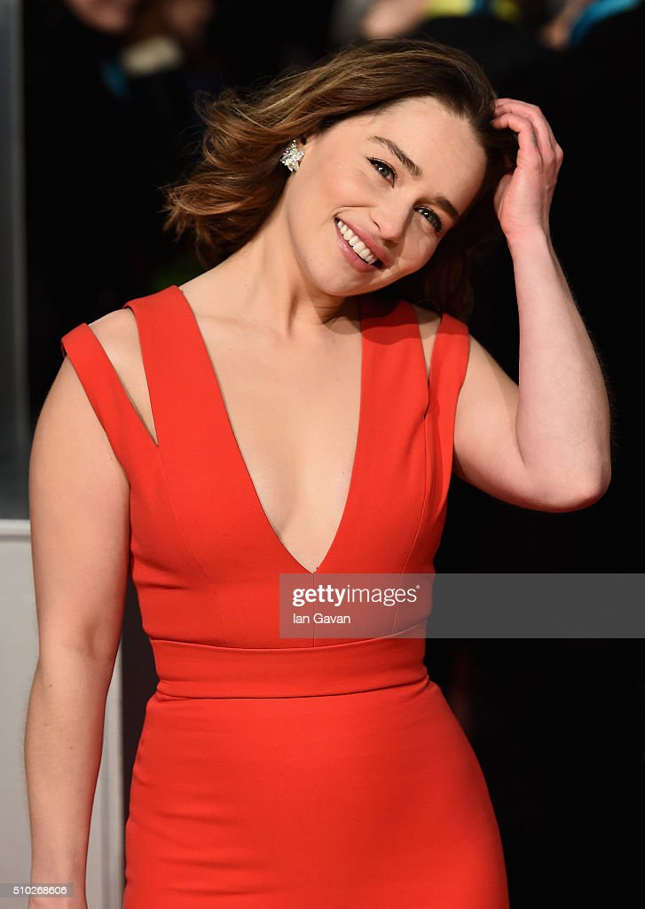 <a gi-track='captionPersonalityLinkClicked' href=/galleries/search?phrase=Emilia+Clarke&family=editorial&specificpeople=7426687 ng-click='$event.stopPropagation()'>Emilia Clarke</a> attends the EE British Academy Film Awards at the Royal Opera House on February 14, 2016 in London, England.