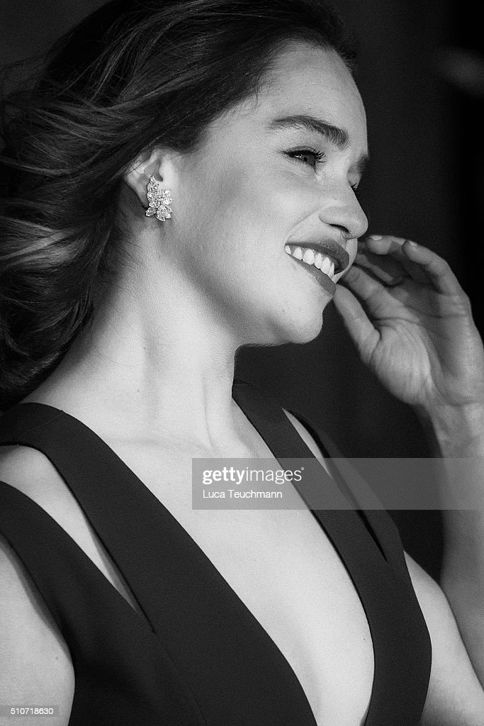 Emilia Clarke attends the EE British Academy Film Awards at The Royal Opera House on February 14, 2016 in London, England.