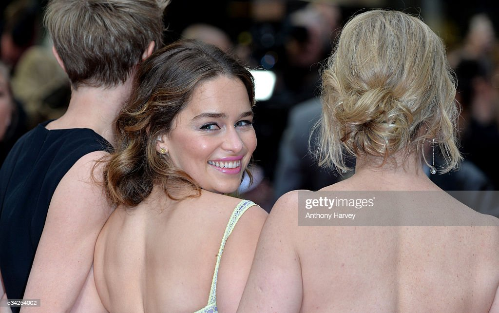 Emilia Clarke attends the European film premiere 'Me Before You' at The Curzon Mayfair on May 25, 2016 in London, England.