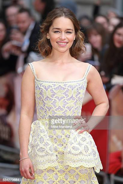 Emilia Clarke attends the European film premiere 'Me Before You' at The Curzon Mayfair on May 25 2016 in London England
