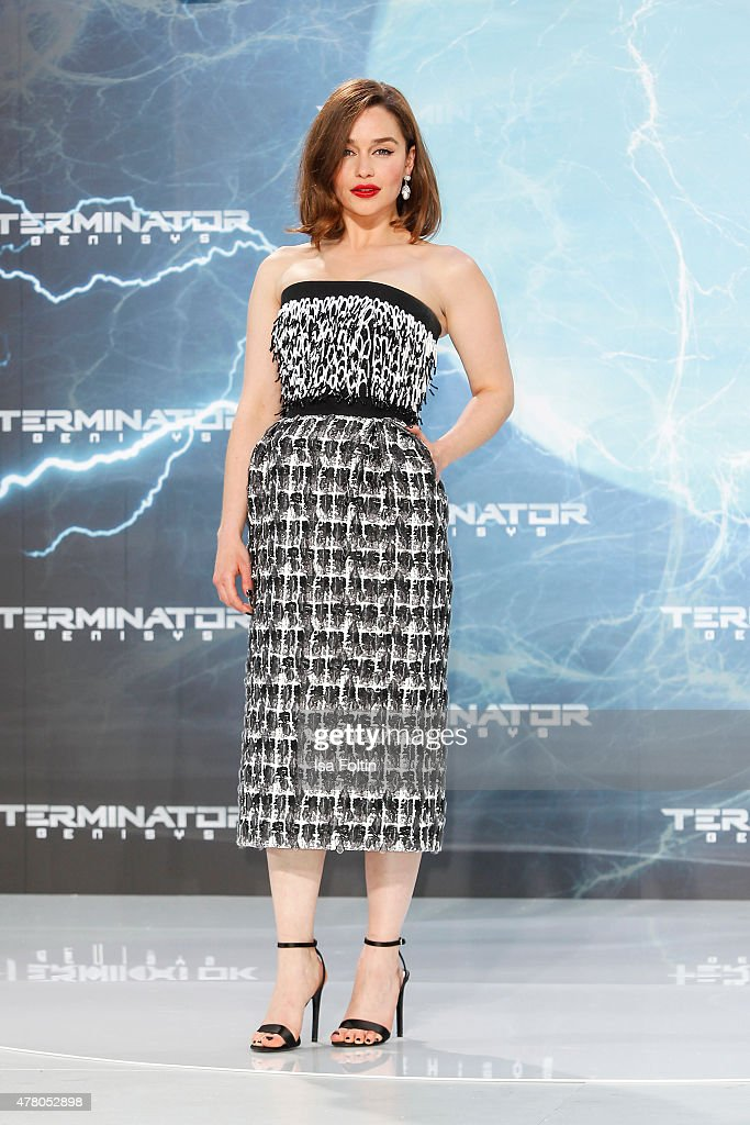 Emilia Clarke attends the European Premiere of 'Terminator Genisys' at the CineStar Sony Center on June 21 2015 in Berlin Germany