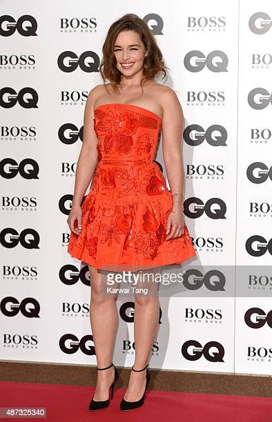 Emilia Clarke attends the GQ Men Of The Year Awards at The Royal Opera House on September 8 2015 in London England