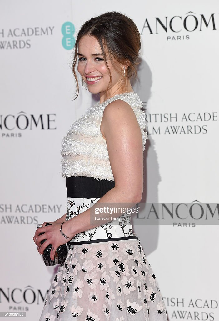 <a gi-track='captionPersonalityLinkClicked' href=/galleries/search?phrase=Emilia+Clarke&family=editorial&specificpeople=7426687 ng-click='$event.stopPropagation()'>Emilia Clarke</a> attends the Lancome BAFTA nominees party at Kensington Palace on February 13, 2016 in London, England.