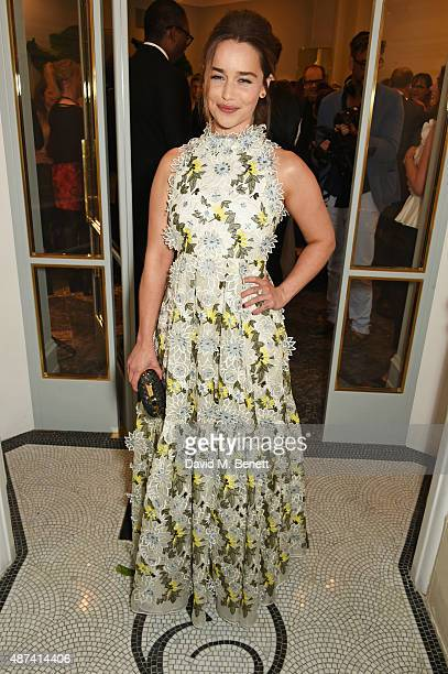 Emilia Clarke attends the launch of the first Erdem flagship store on September 9 2015 in London England