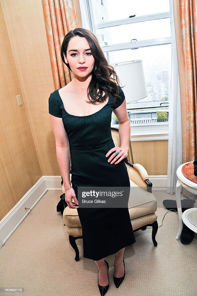 <a gi-track='captionPersonalityLinkClicked' href=/galleries/search?phrase=Emilia+Clarke&family=editorial&specificpeople=7426687 ng-click='$event.stopPropagation()'>Emilia Clarke</a> attends the press preview for 'Breakfast At Tiffany's' at The Carlyle Hotel Princess Diana Suite on February 27, 2013 in New York City.