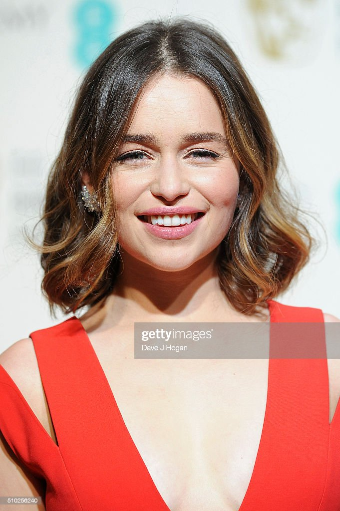 <a gi-track='captionPersonalityLinkClicked' href=/galleries/search?phrase=Emilia+Clarke&family=editorial&specificpeople=7426687 ng-click='$event.stopPropagation()'>Emilia Clarke</a> poses in the winners room at the EE British Academy Film Awards at The Royal Opera House on February 14, 2016 in London, England.