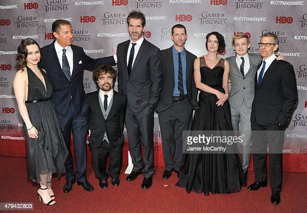 Emilia Clarke Richard Plepler Peter Dinklage David Benioff DB Weiss Lena Headey Jack Gleeson and Michael Lombardo attend the 'Game Of Thrones' Season...