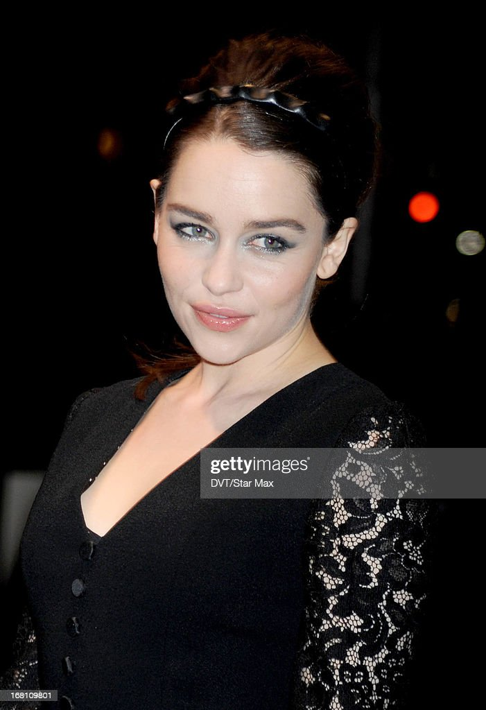 Emilia Clarke seen on May 4, 2013 in New York City.