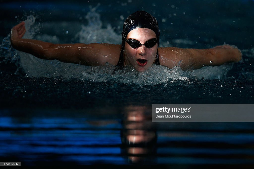 Emilia Colti Dumitrescu of Romania competes in the Girls 400m Medley during the European Youth Olympic Festival held at the Swimming Pool De Krommerijn on July 16, 2013 in Utrecht, Netherlands.