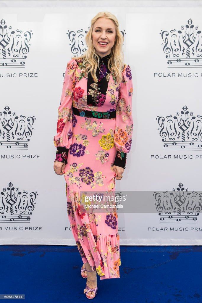 Emilia de Poret attends an award ceremony for the Polar Music Prize at Konserthuset on June 15, 2017 in Stockholm, Sweden.
