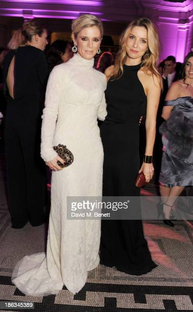 Emilia Fox and Annabelle Wallis arrive at The WGSN Global Fashion Awards at the Victoria Albert Museum on October 30 2013 in London England