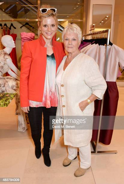 Emilia Fox and Dame Judi Dench attend the Shop with the Stars a public shopping evening to celebrate The Olivier Awards with MasterCard to raise...
