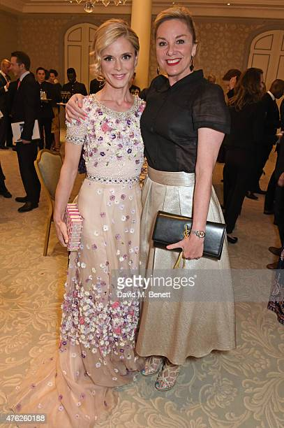Emilia Fox and Tamzin Outhwaite attend the South Bank Sky Arts awards at The Savoy Hotel on June 7 2015 in London England