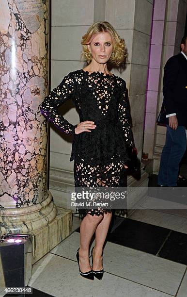 Emilia Fox arrives at the Alexander McQueen Savage Beauty VIP private view at the Victoria and Albert Museum on March 14 2015 in London England
