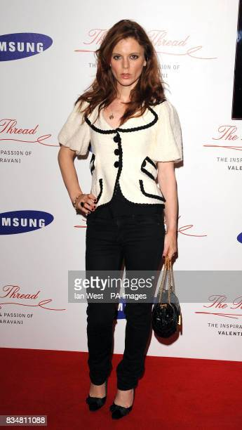 Emilia Fox arrives at the Samsung Imagination Series Event The Red Thread The Inspiration and Passion of Valentino Garavani Premiere at The Hospital...