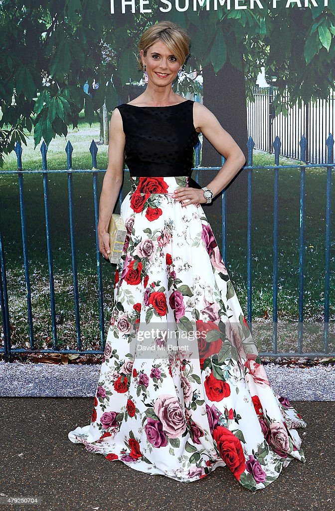 Emilia Fox arrives at The Serpentine Gallery summer party at The Serpentine Gallery on July 2 2015 in London England