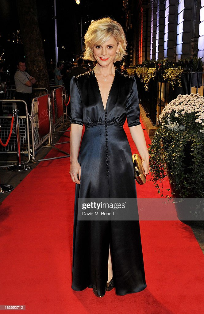 Emilia Fox attends a BFI Luminous Gala ahead of the London Film Festival at 8 Northumberland Avenue on October 8 2013 in London England