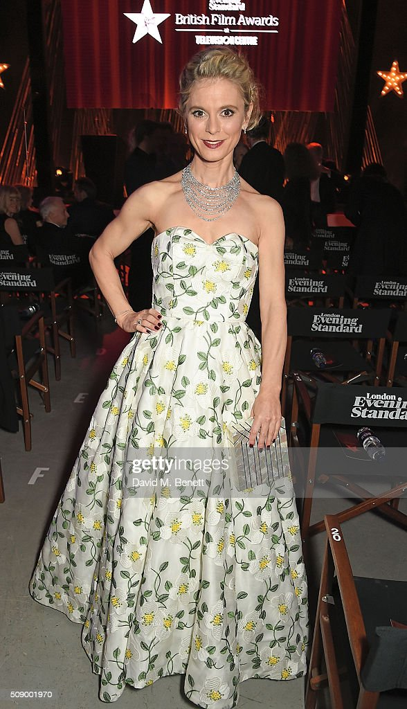 Emilia Fox attends a champagne reception at the London Evening Standard British Film Awards at Television Centre on February 7 2016 in London England