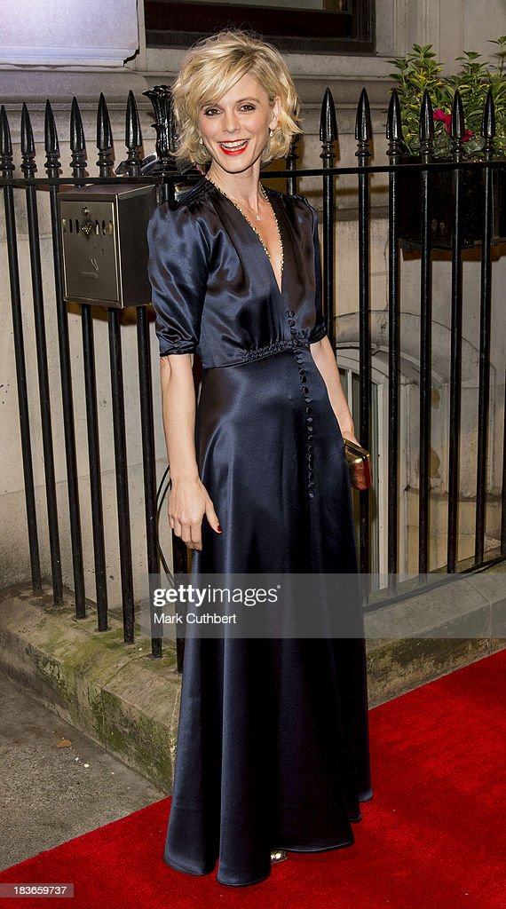 Emilia Fox attends a gala dinner hosted by the BFI ahead of the London Film Festival at 8 Northumberland Avenue on October 8 2013 in London England