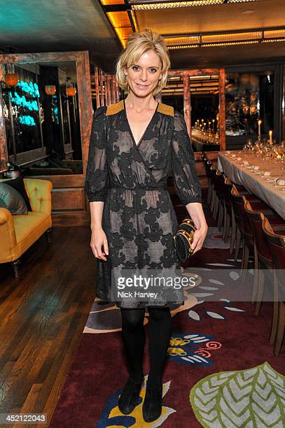 Emilia Fox attends Johnnie Walker Blue Label Alfred Dunhill 'A Journey Shared' Dinner at 34 Grosvenor Square on November 26 2013 in London England