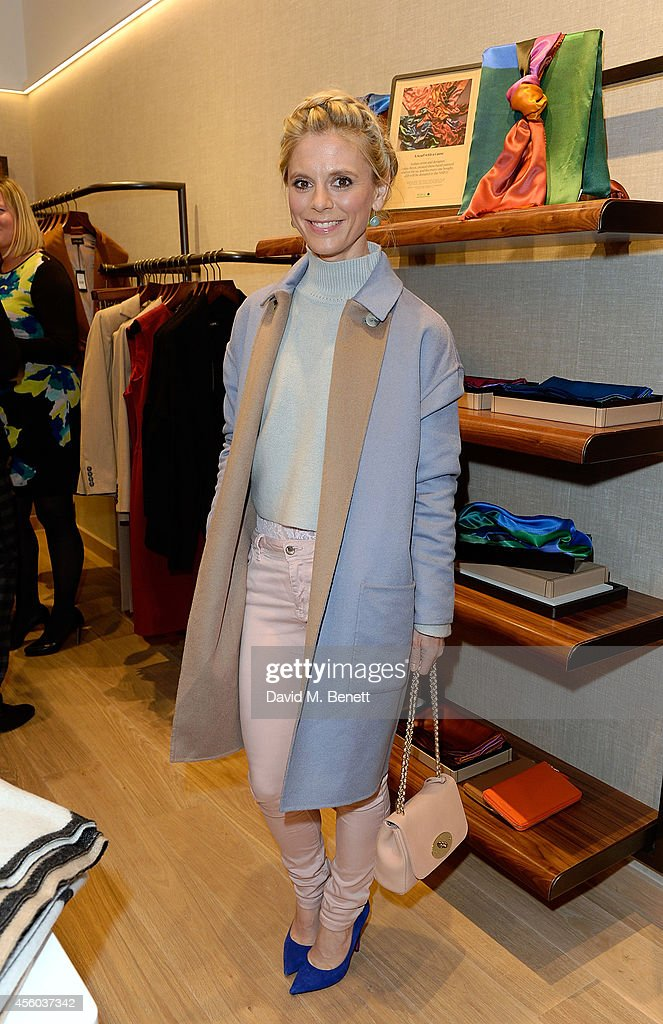 Emilia Fox attends the Jaeger store relaunch as the new store concept in Chelsea is unveiled on September 24 2014 in London England