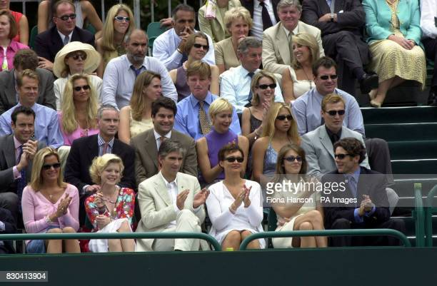 Emilia Fox Damon Hill and wife Georgie Liz Hurley and Guy Louthmen Tania Bryer Anna Kournikova and Sergei Federov Ernie Els and Nick Faldo with...