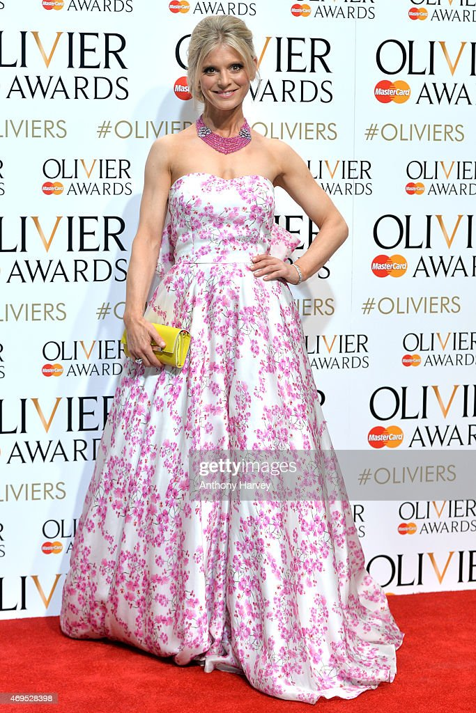 Emilia Fox in the winners room at The Olivier Awards at The Royal Opera House on April 12 2015 in London England