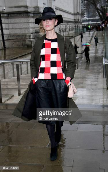 Emilia Fox sighted at the TopShop Unique fashion show on February 22 2015 in London England