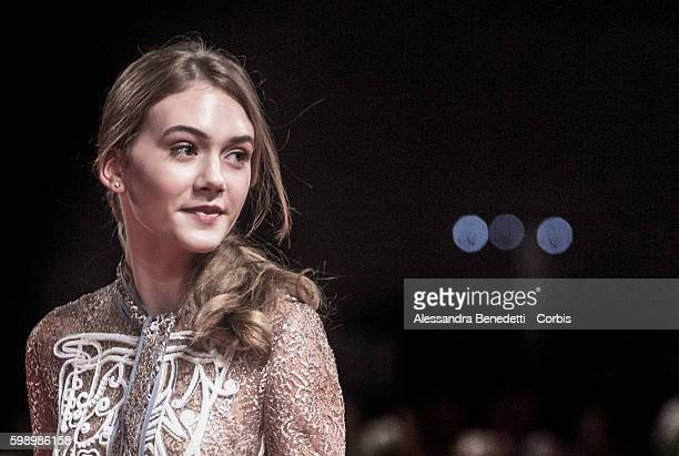 Emilia Jones attends a premiere for 'Brimstone' during the 73rd Venice Film Festival at on September 3 2016 in Venice Italy