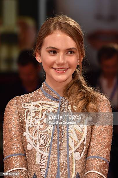 Emilia Jones attends the premiere of 'Brimstone' during the 73rd Venice Film Festival at Sala Grande on September 3 2016 in Venice Italy