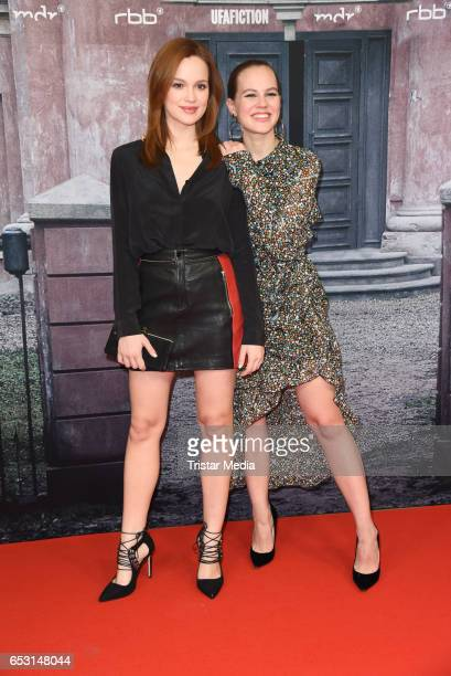 Emilia Schuele and Alicia von Rittberg attend the 'Charite' Berlin Premiere on March 13 2017 in Berlin Germany