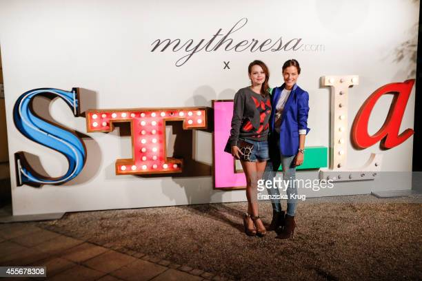 Emilia Schuele and Cleo von Adelsheim attend the mytheresacom x Stella Mc Cartney pre Oktoberfest on September 18 2014 in Munich Germany