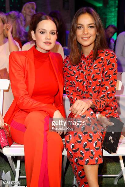 Emilia Schuele and Janina Uhse attend the Marc Cain Fashion Show Spring/Summer 2018 at ewerk on July 4 2017 in Berlin Germany