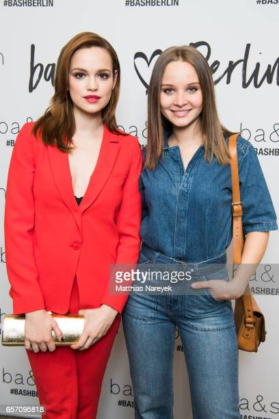 Emilia Schuele and Sonja Gerhardt attend the BaSh store opening on March 23 2017 in Berlin Germany