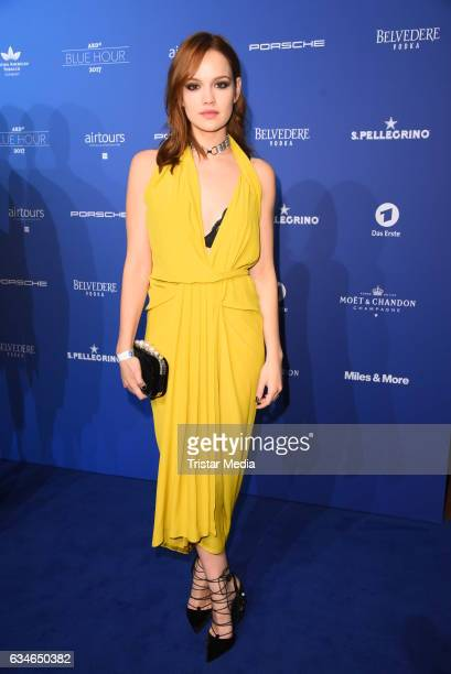 Emilia Schuele attends the Blue Hour Reception hosted by ARD during the 67th Berlinale International Film Festival Berlin on February 10 2017 in...