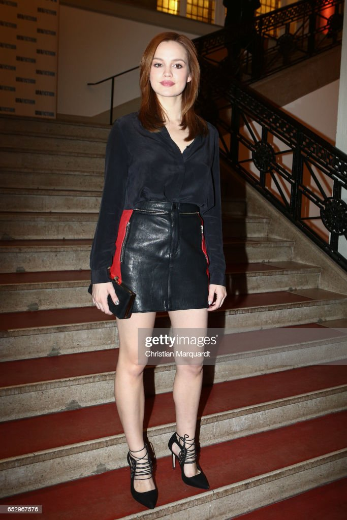 Emilia Schuele attends the 'Charite' premiere at Langenbeck-Virchow-Haus on March 13, 2017 in Berlin, Germany.