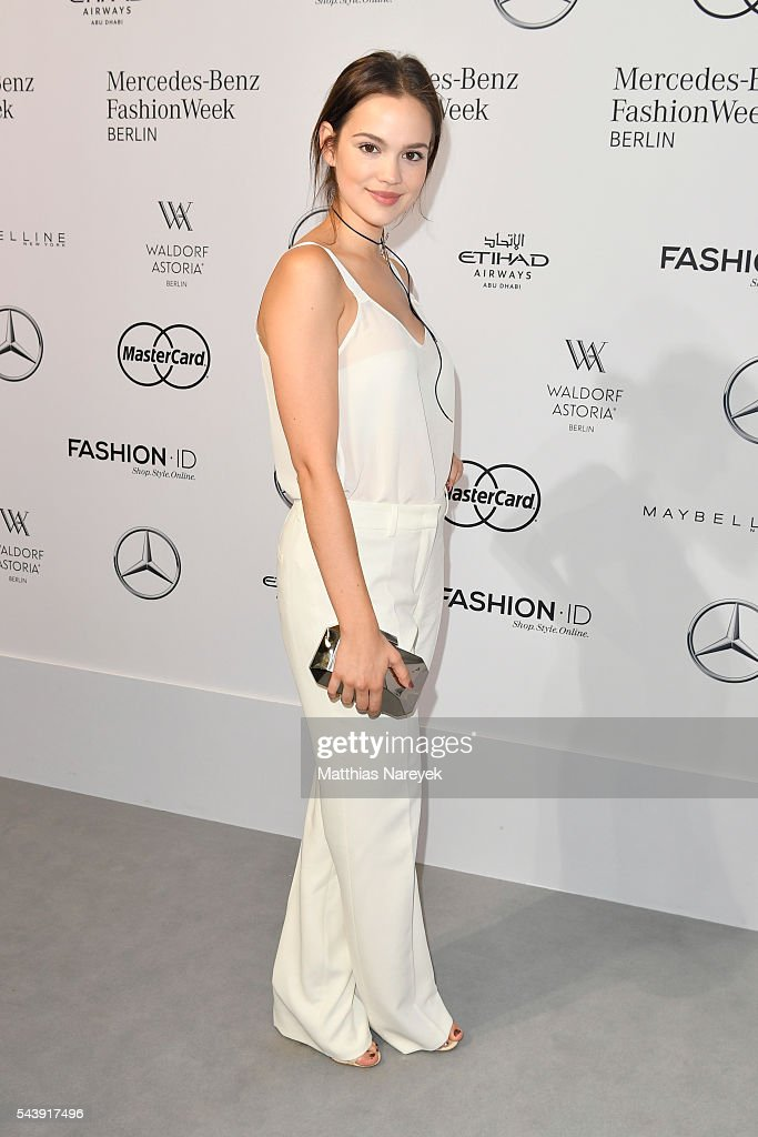 <a gi-track='captionPersonalityLinkClicked' href=/galleries/search?phrase=Emilia+Schuele&family=editorial&specificpeople=5576798 ng-click='$event.stopPropagation()'>Emilia Schuele</a> attends the 'Designer for Tomorrow' show during the Mercedes-Benz Fashion Week Berlin Spring/Summer 2017 at Erika Hess Eisstadion on June 30, 2016 in Berlin, Germany.