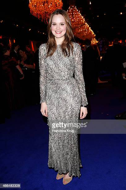 Emilia Schuele attends the Goldene Kamera 2014 at Tempelhof Airport on February 01 2014 in Berlin Germany