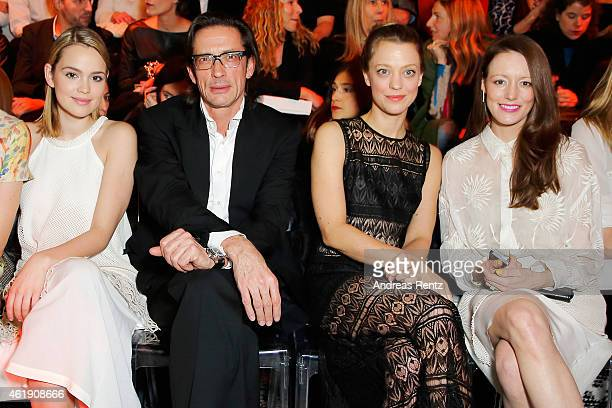 Emilia Schuele Oskar Roehler Heike Makatsch and Lavinia Wilson attend the Kaviar Gauche Show during the MercedesBenz Fashion Week Berlin...