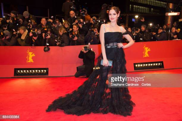 Emilia Schuele wearing Dior attends the 'Django' premiere during the 67th Berlinale International Film Festival Berlin at Berlinale Palace on...