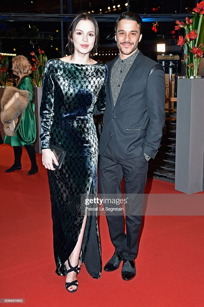 Emilia Schule and Kostja Ullmann attend the 'Hail, Caesar!' premiere during the 66th Berlinale International Film Festival Berlin at Berlinale Palace on February 11, 2016 in Berlin, Germany.