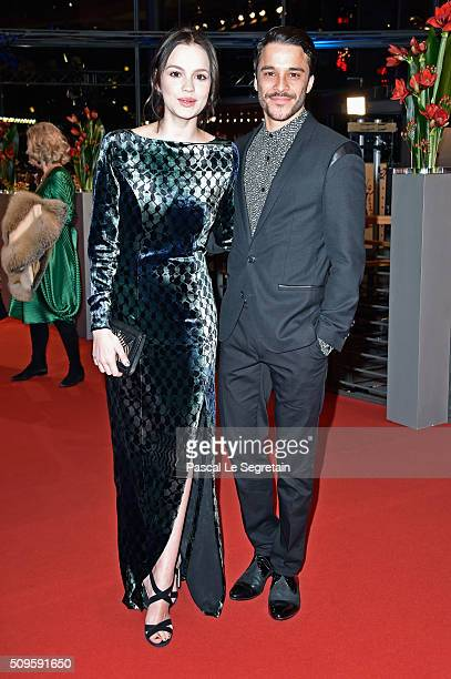 Emilia Schule and Kostja Ullmann attend the 'Hail Caesar' premiere during the 66th Berlinale International Film Festival Berlin at Berlinale Palace...