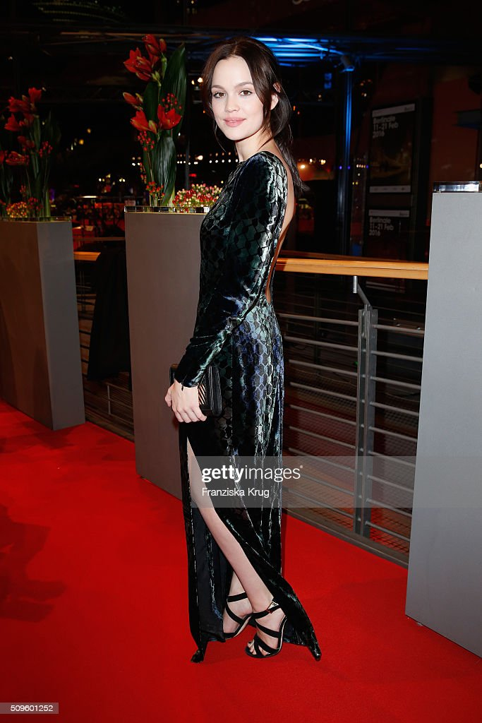 Emilia Schule attends the opening party of the 66th Berlinale International Film Festival Berlin at Berlinale Palace on February 11, 2016 in Berlin, Germany.