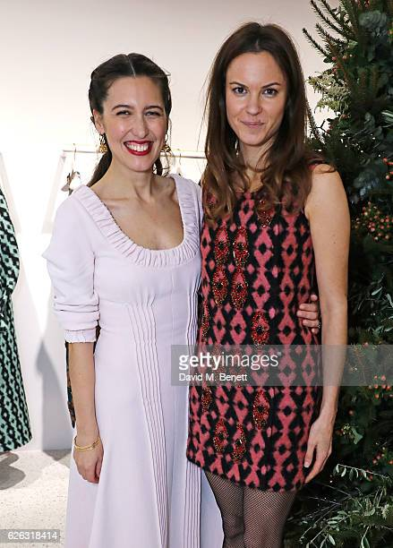 Emilia Wickstead and Fran Hickman attend the Emilia Wickstead Christmas Cocktail party at the Emilia Wickstead London Flagship store on November 28...