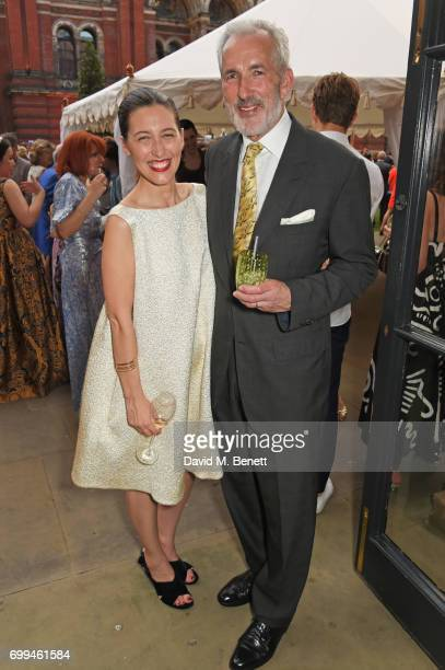 Emilia Wickstead and Jeremy King attend the 2017 annual VA Summer Party in partnership with Harrods at the Victoria and Albert Museum on June 21 2017...