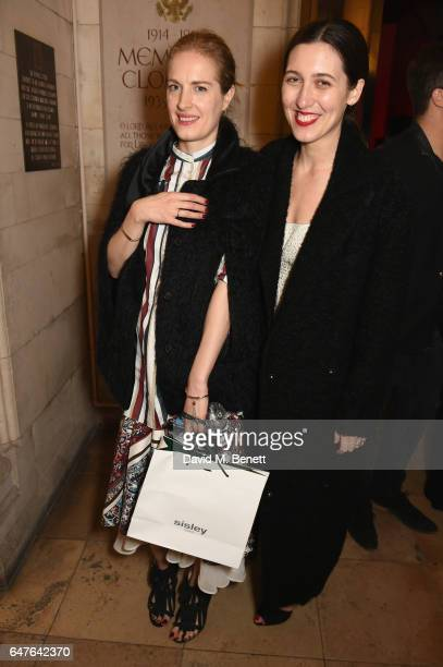 Emilia Wickstead and Polly Morgan attend Heavensake 'A Better High' Awareness Performance at the American Cathedral in Paris during Paris Fashion...