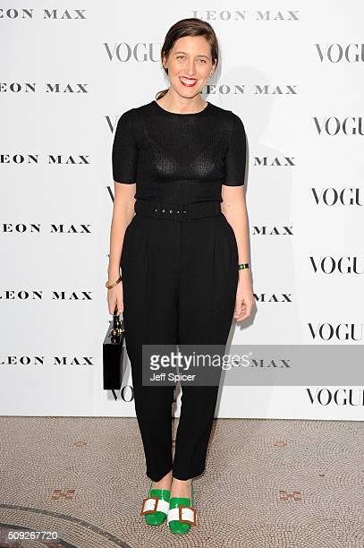 Emilia Wickstead attends at Vogue 100 A Century Of Style at the National Portrait Gallery on February 9 2016 in London England
