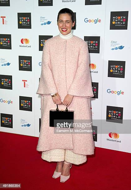 Emilia Wickstead attends day 1 of the Women in the World summit at Cadogan Hall on October 8 2015 in London England