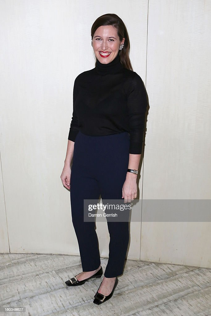 Emilia Wickstead attends Nobu Berkeley during the BFC/Vogue Designer Fashion Fund - Winners Announcement on January 29, 2013 in London, England.